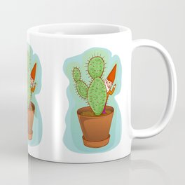 fairytale dwarf with cactus Coffee Mug