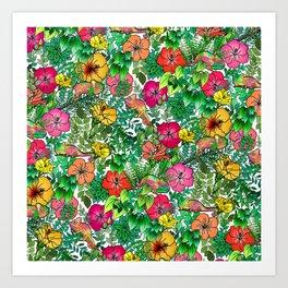 Hibiscus Haven Art Print