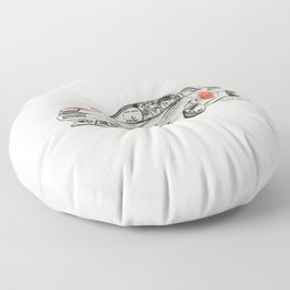 Crazy Car Art 0182 Floor Pillow