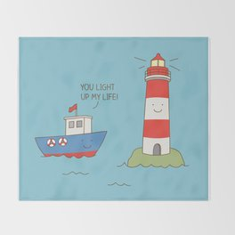You light up my life Throw Blanket
