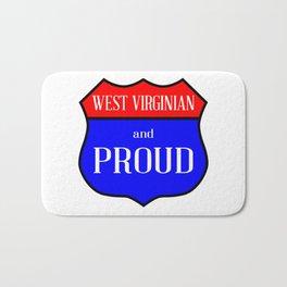 West Virginian And Proud Bath Mat
