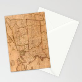 Vintage Map of New England States (1843) Stationery Cards