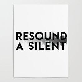 Resound a Silent Logo Light Poster