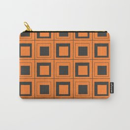 Orange Squares Carry-All Pouch