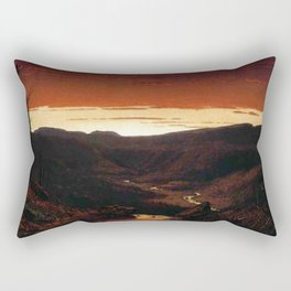 A Twilight in the Catskill Mountains by Sanford Robinson Gifford Rectangular Pillow