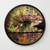 mirror Wall Clocks featuring Mirror by Forgotten Beauty