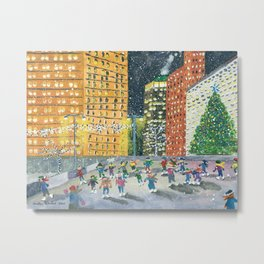 Christmas on Woodward Avenue Metal Print
