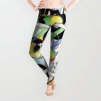 french Leggings featuring French Curves by Melwherry