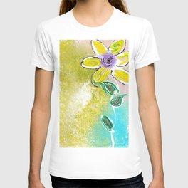 Single Yellow Flower T-shirt