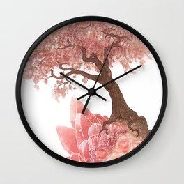 Cherry Tree and Rhodochrosite Wall Clock