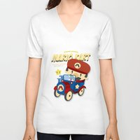 mario kart V-neck T-shirts featuring mario kart vintage by danvinci