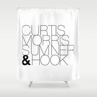 joy division Shower Curtains featuring JOY DIVISION by Louis Loizou
