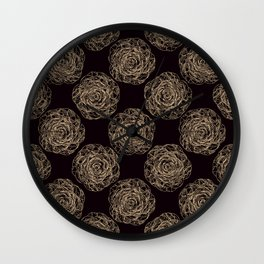 Pattern with roses 2 Wall Clock