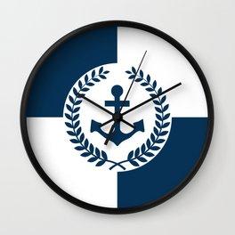 Nautical themed design 2 Wall Clock