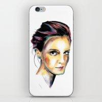 emma watson iPhone & iPod Skins featuring Emma Watson by caffeboy