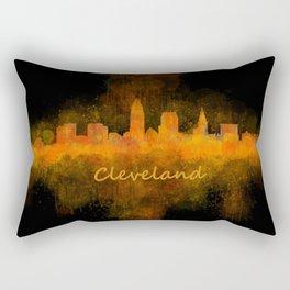 Cleveland City Skyline Hq V4 Rectangular Pillow
