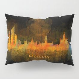 Moscow City Skyline art HQ v4 Pillow Sham