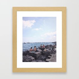 Summer at Lake Michigan, Chicago Framed Art Print