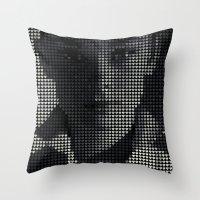 hepburn Throw Pillows featuring Hepburn by Robotic Ewe