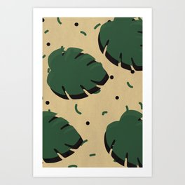 Monstera leaf 1 Art Print