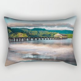 Hanalei Pier Kauai Hawaii  Rectangular Pillow