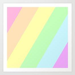 Pastel Rainbow Art Print