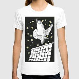 Zentangle Magical Messenger Owl T-shirt