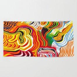 colored flow Beach Towel