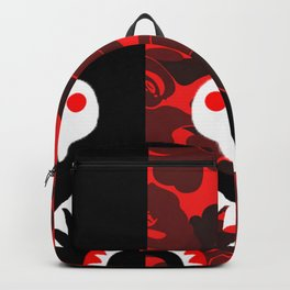 black X red camo pattern Backpack