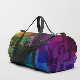 Vibrant Rainbow Geometric Pattern Duffle Bag