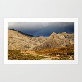 Mountains of Glenbrittle Art Print
