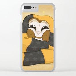 Cozy Barn Owl Clear iPhone Case