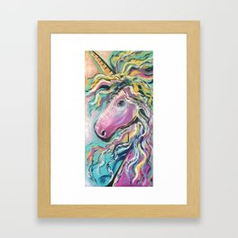 Fabulous Rainbow Unicorn Framed Art Print