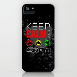 Keep Calm and GROM, Red iPhone Case