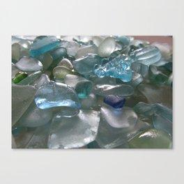Ocean Hue Sea Glass Assortment Canvas Print