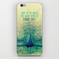 peacock iPhone & iPod Skins featuring Peacock  by Graphic Tabby