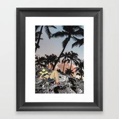ON VACATION Framed Art Print