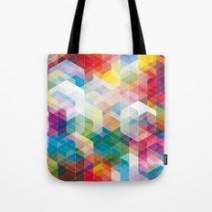 Cuben Curved #3 Geometric Art Print. Tote Bag