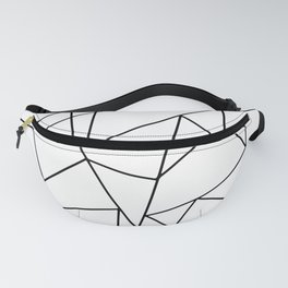 Simple Modern Black and White Geometric Pattern Fanny Pack