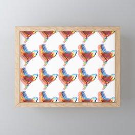 Farmhouse chicken pattern Framed Mini Art Print