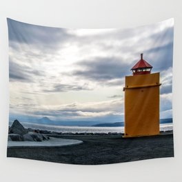 Lighthouse at the Point Wall Tapestry