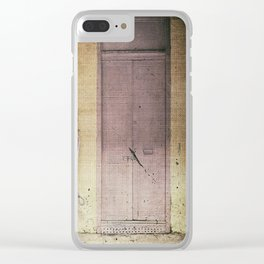 Vintage Facade Clear iPhone Case