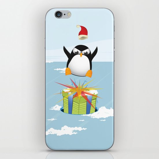 Angry penguin iPhone Skin