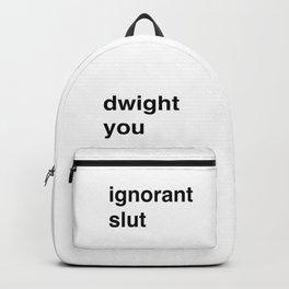 Ignorant Slut (lowercase) Backpack