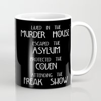 coven Mugs featuring American Horror Story Four Seasons by Zharaoh