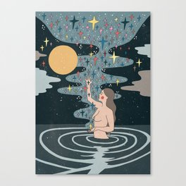 Full Moon blessings Canvas Print