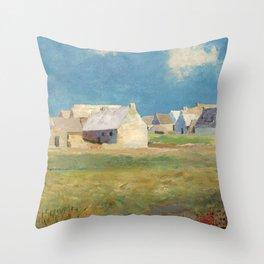 """Odilon Redon """"Breton Village"""" Throw Pillow"""