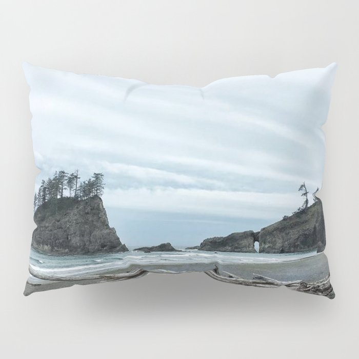 Rainy Day at Second Beach Pillow Sham