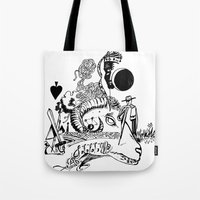 ram Tote Bags featuring Ram by Cowbird