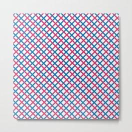 Red & blue stripes pattern Metal Print